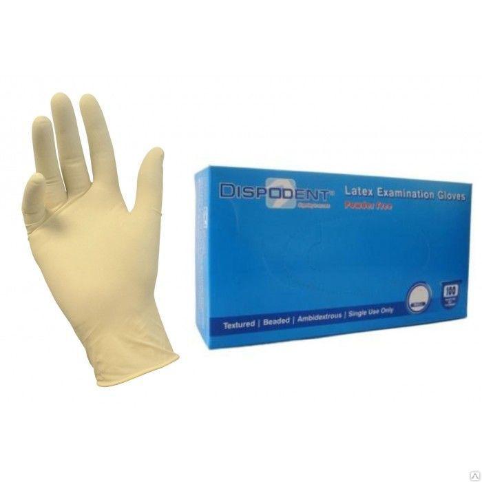 Перчатки Dispodent,двойного хлорирования, текстурированные, неопудренные ,100 шт / уп. размеры M (7/8)